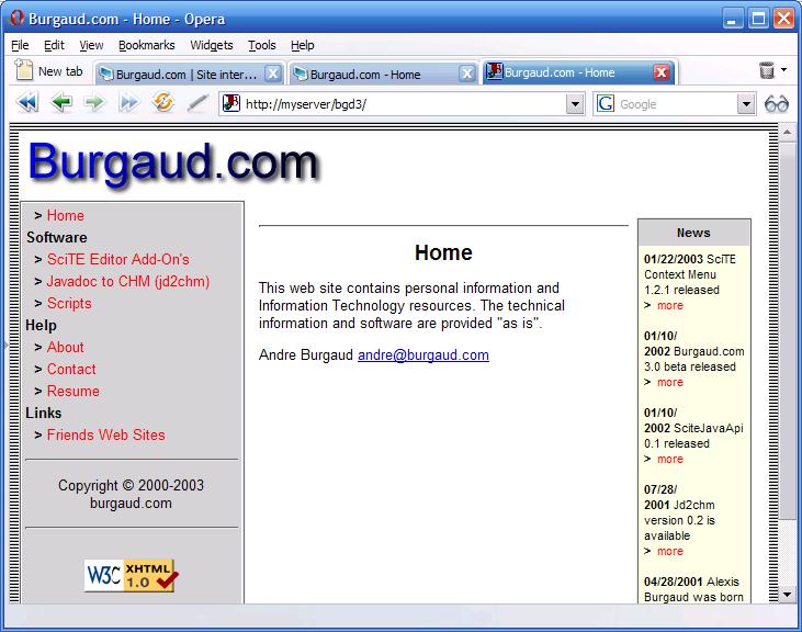 Burgaud.com 3.0 (PHP)