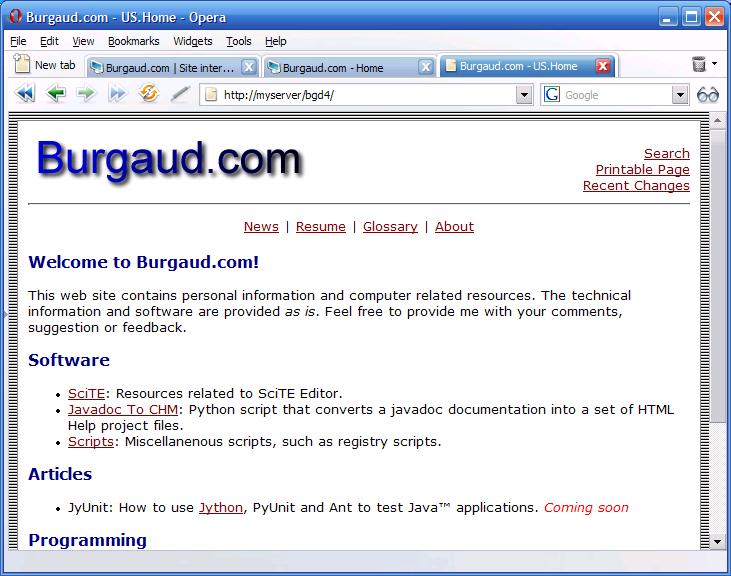 Burgaud.com 4.0 (Powered by PmWiki)