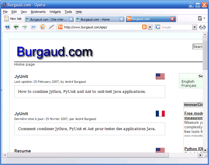Burgaud.com 6.0 (Powered by SPIP)